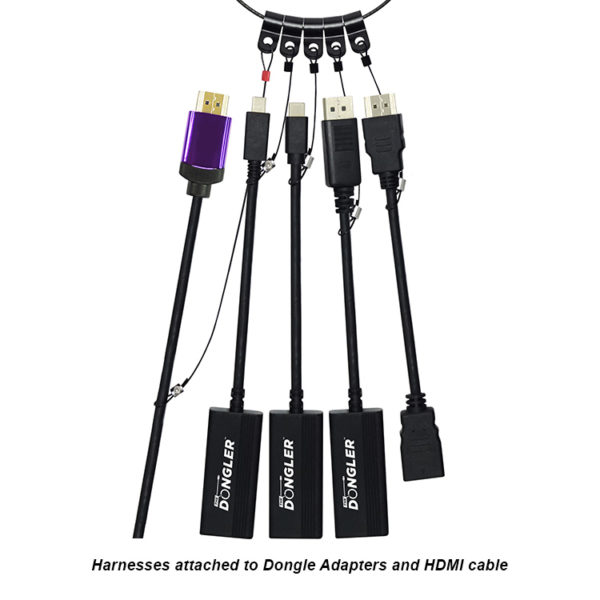 Harnesses Attached to Dongle Adapters and HDMI Cable - DO-L001
