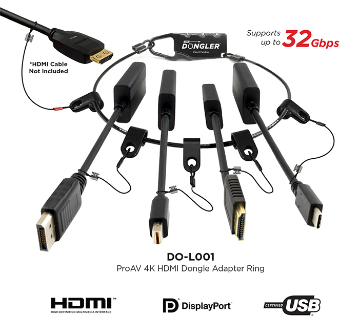 The Dongler Loaded - DO-L001 - ProAV 4K HDMI Dongle Adapter Ring